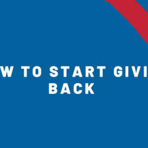 how to start giving back